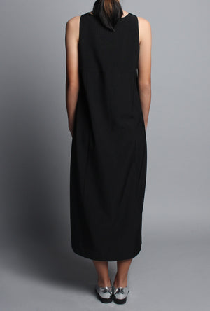 HI-SLIT MIDI SHIFT DRESS
