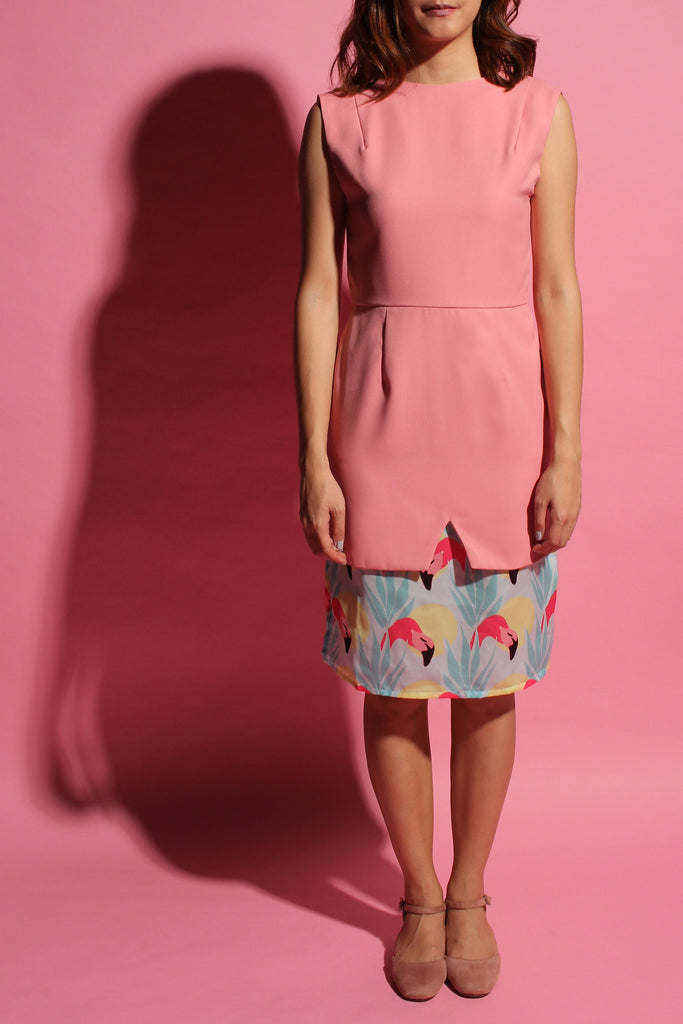 Inverted V Flamingo Dress - Pink