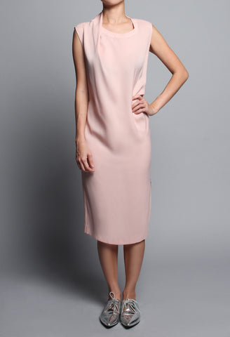 Hannah Draped Neck Midi-Dress