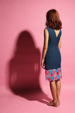 Inverted V Flamingo Dress - Dark Teal