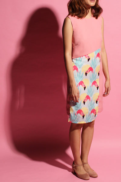 Crossback Flamingo Dress - Pink