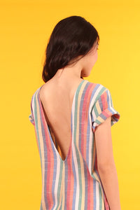 Drop Crotch Jumpsuit - Rainbow