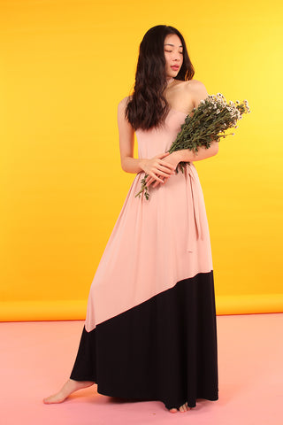 Hi-Neck Colorblock Maxi