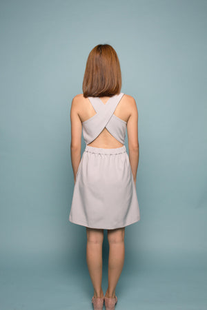 Crossback Pinafore (Pebble Grey)