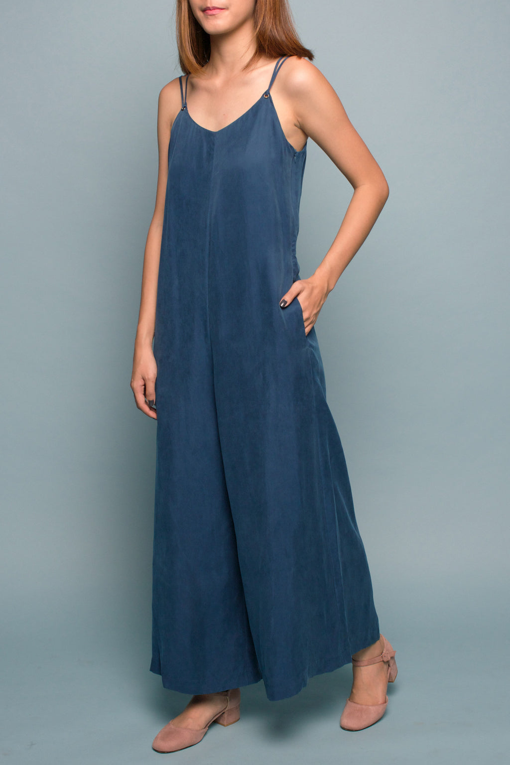Wide-leg Jumpsuit (Aqua Algae)