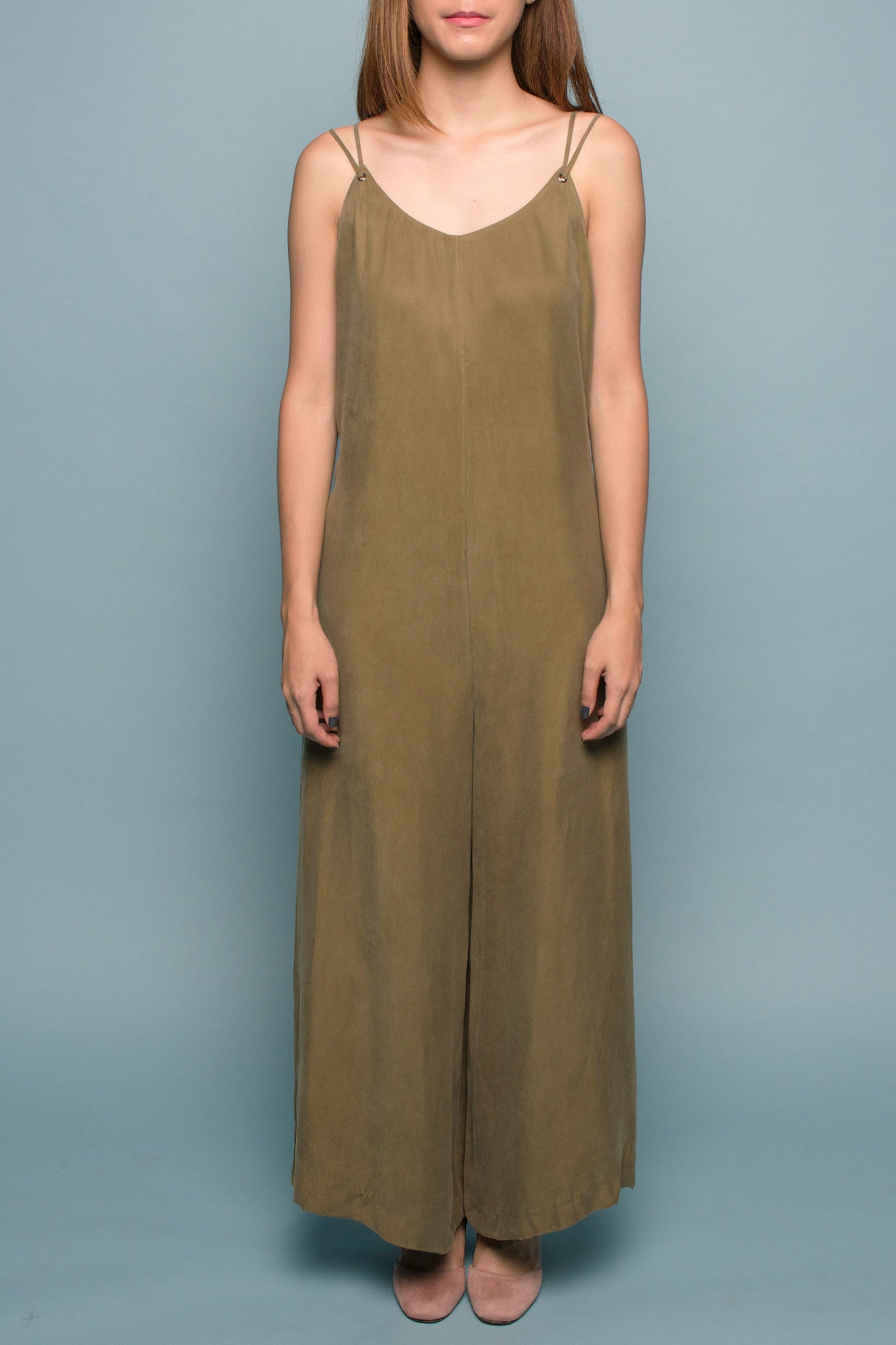 Wide-leg Jumpsuit (Olive)