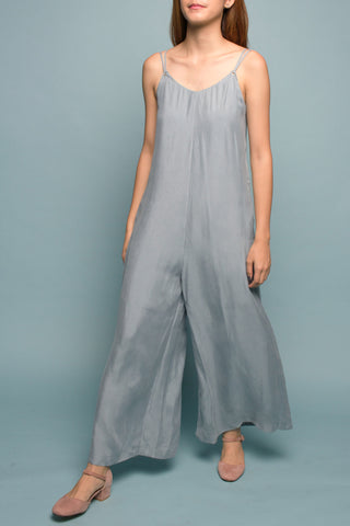 Wide-leg Jumpsuit (Ocean Blue)
