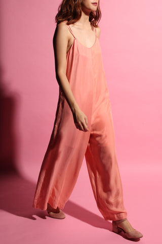 Wide-leg Jumpsuit - Blush Pink