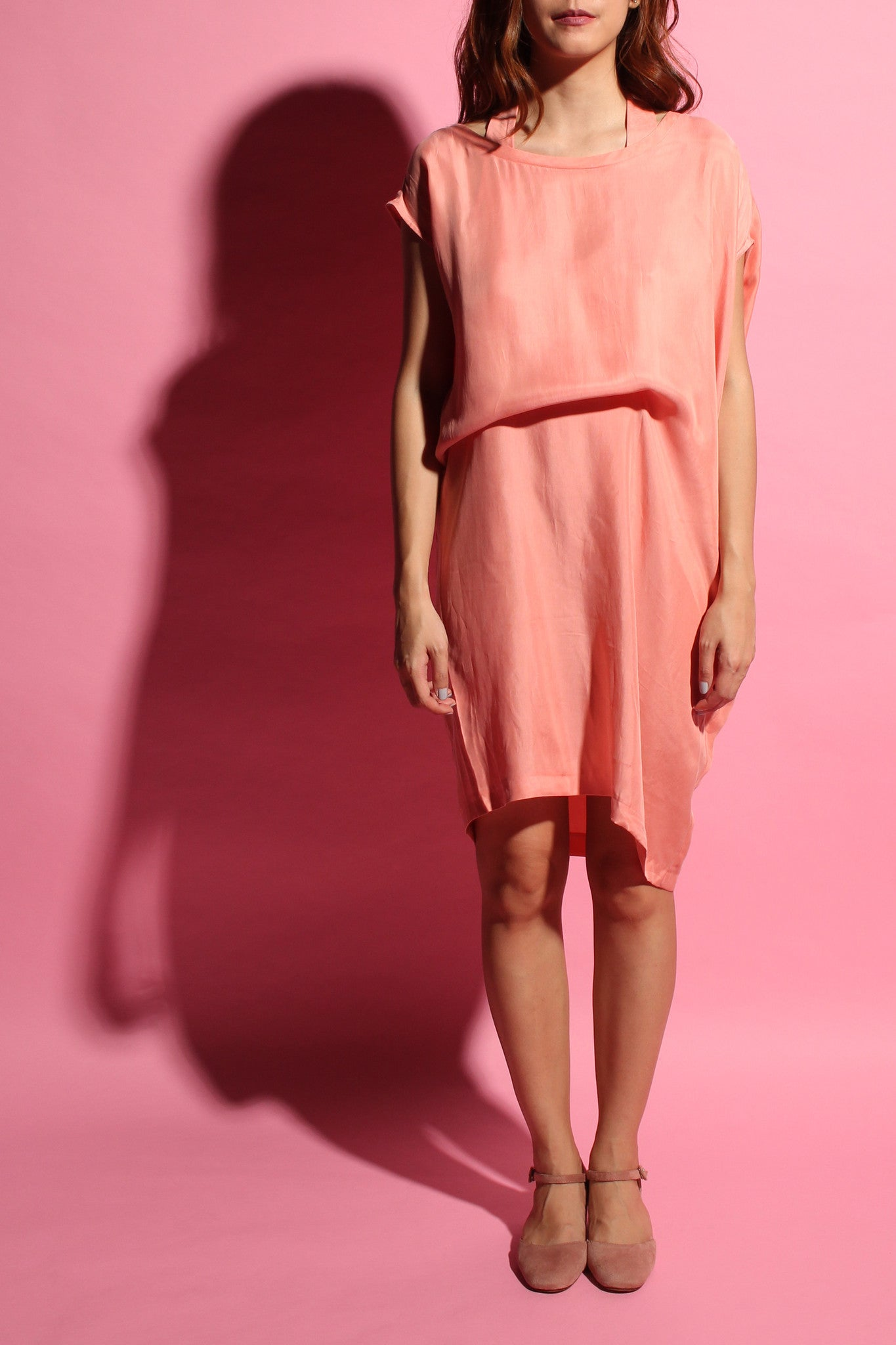 Convertible Tee Dress - Blush Pink