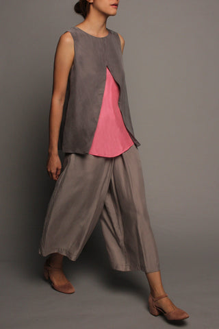 Mid-Fold Pants (Slate Grey)