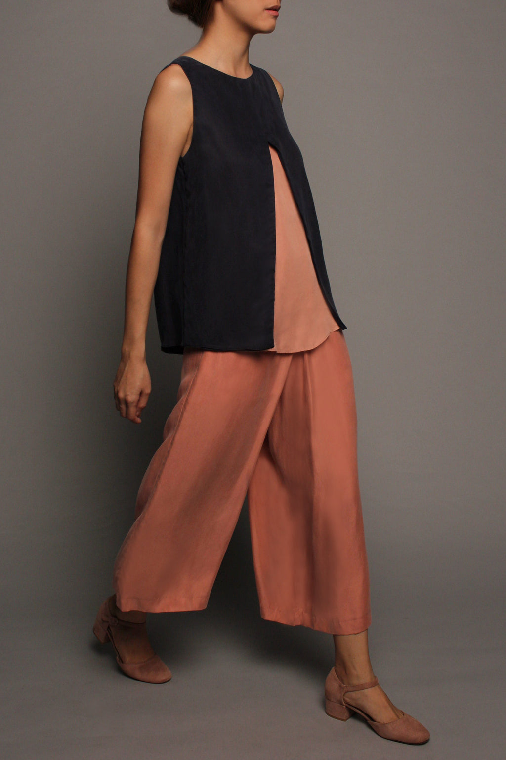 Mid-Fold Pants (Dusty Pink)