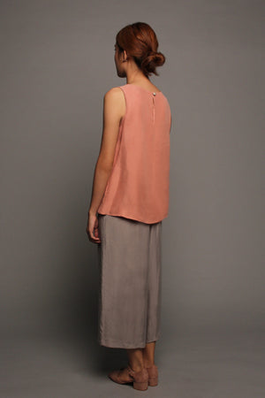 Open Front Top (Pink & Khaki)