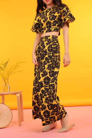 Palazzo Pants (Black & Yellow)