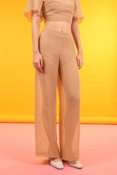 Sheer Bottom Pants (Nude Confetti)
