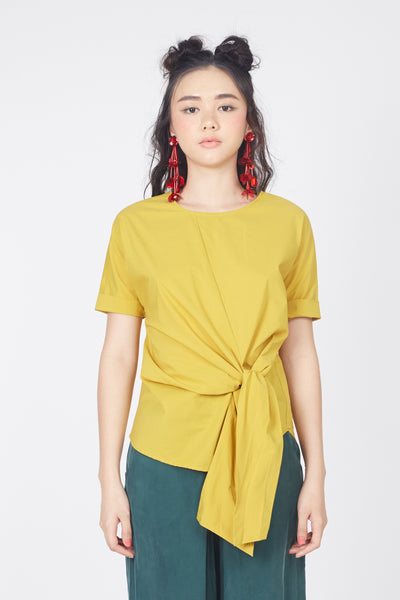 Knotted Blouse (Mustard)