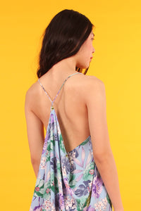 Stringback Dress (Floral Print)