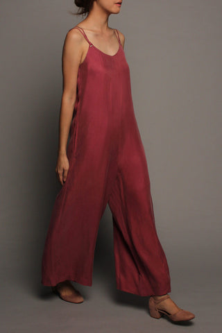 Wide-leg Jumpsuit (Raspberry Pink)