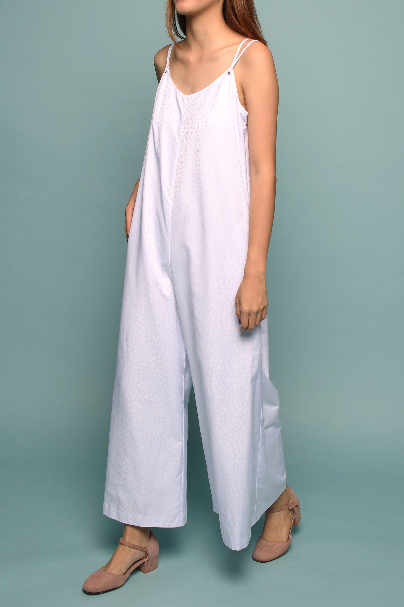 Wide-leg Jumpsuit (White Leopard)