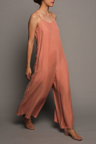 Wide-leg Jumpsuit (Dusty Pink)