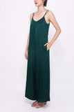 Wide-leg Jumpsuit - Forest Green