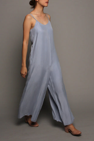 Wide-leg Jumpsuit (Powder Blue)