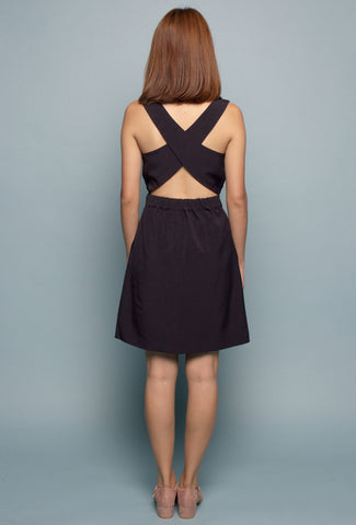 Crossback Pinafore (Navy)