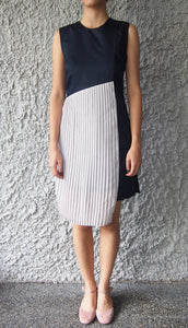 X-Back Pleated Dress