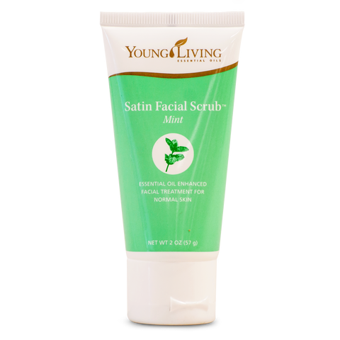 satin facial scrub mint - 57g