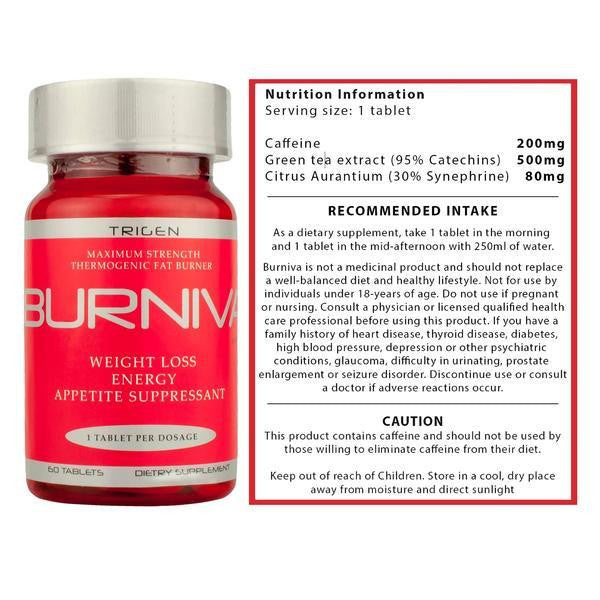 Burniva Supplements - 60 servings