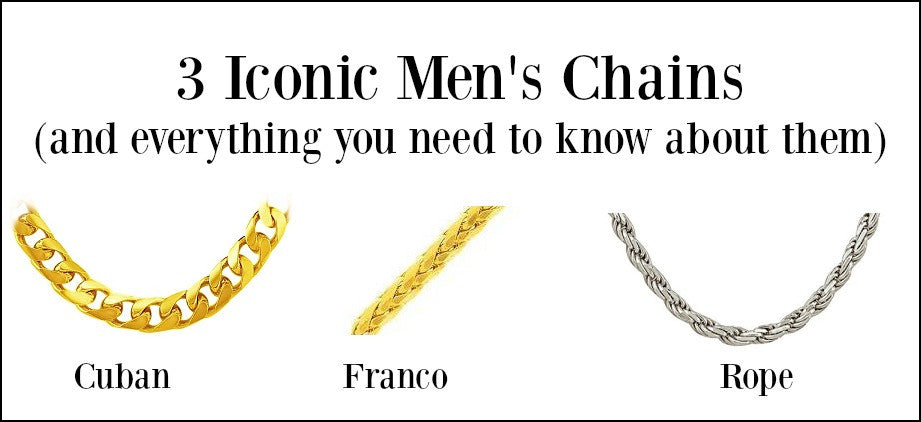 Men's Chains- 3 iconic styles and everything you need to know about them