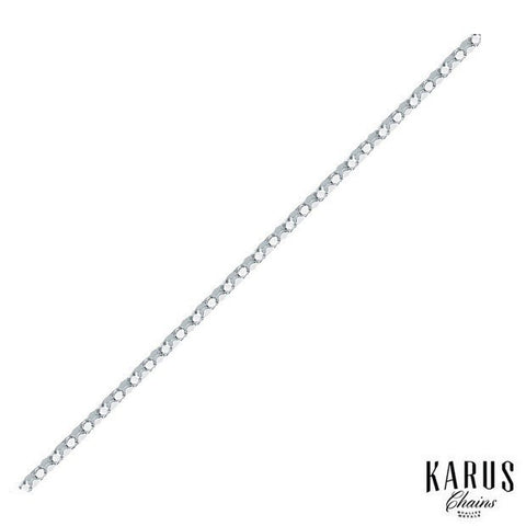 1.8MM POPCORN CHAIN 925 STERLING SILVER RHODIUM PLATED
