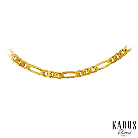 1.9mm Solid Figaro Chain 14K Yellow Gold(2)