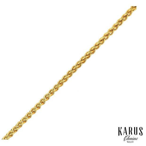 14K YELLOW GOLD 2.8MM LIGHT WEIGHT WHEAT CHAIN