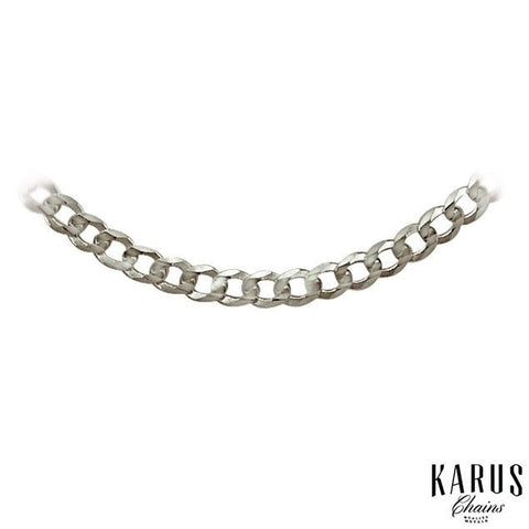 2.6mm Solid Curb Chain 14K White Gold(2)