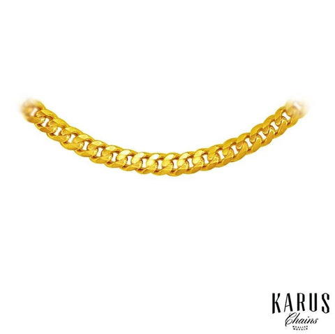 3.0mm Gourmette Chain 14K Yellow Gold