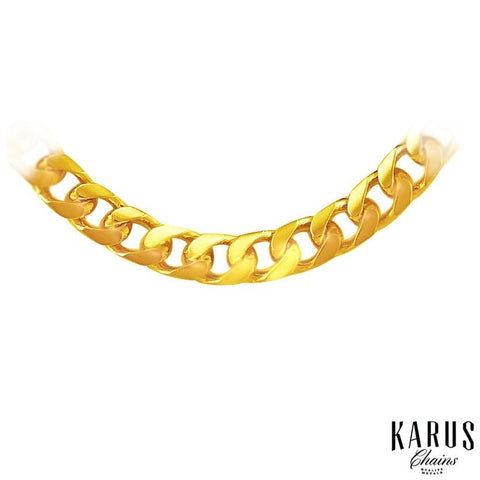 4.4mm Solid Miami Cuban Link Chain 14K Yellow Gold
