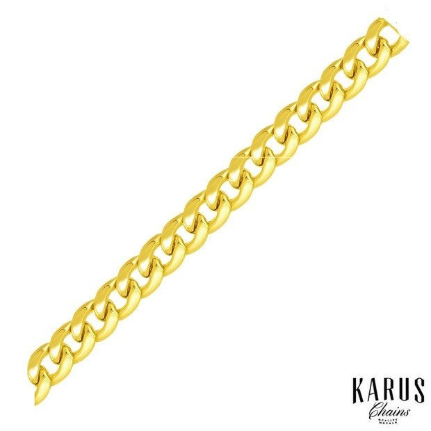 7.8MM 14K YELLOW GOLD LIGHT MIAMI CUBAN LINK CHAIN