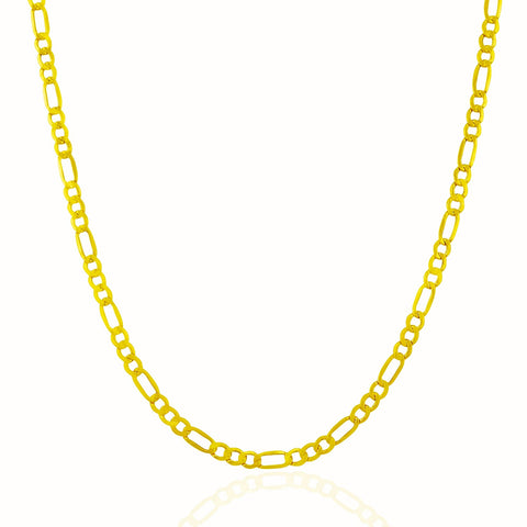 2.8mm 10K Yellow Gold Lite Figaro Chain