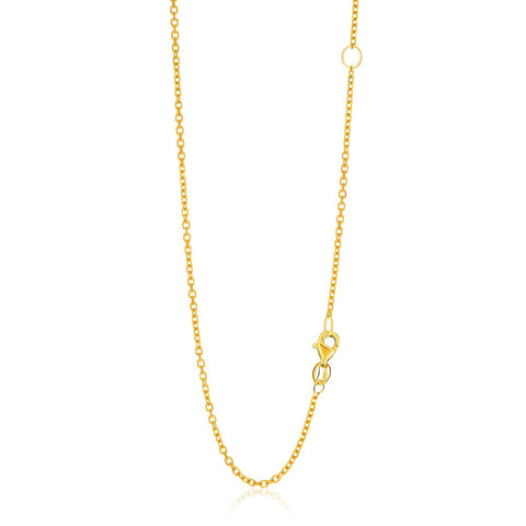 1.5mm 14K Yellow Gold Adjustable Cable Chain