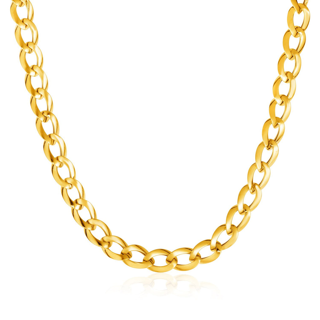 14K Gold 18 inches Curb Style Necklace