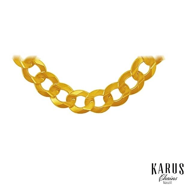 8.2mm Curb Chain 10K Yellow Gold