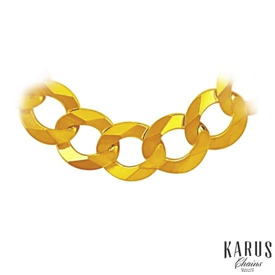 Solid Curb Chain 14K Yellow Gold 10.0mm