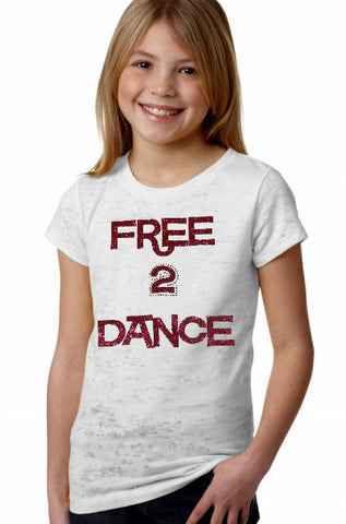 FREE 2 DANCE SPARKLE TEE (YOUTH)
