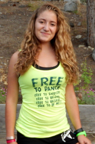 """Free To"" Dance Tank - Front"