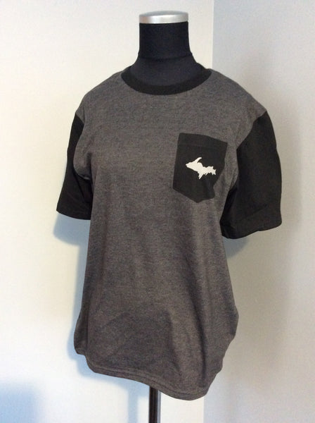 Mens Very Important Tee with Contrast Sleeves and Pocket
