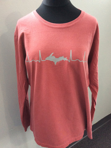 Ladies Long Sleeve EKG Shirt