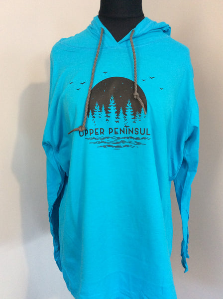 Women's Upper Peninsula Lightweight Long Sleeve Hooded T-Shirt