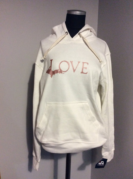 Love Michigan Hooded Sweatshirt