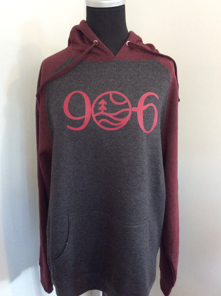 906 Raglan Hooded Pullover