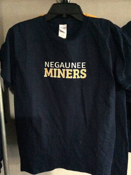 Negaunee Miners Heavy Cotton Youth Tee